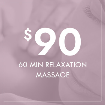 60 Minute Relaxation Massage for $90